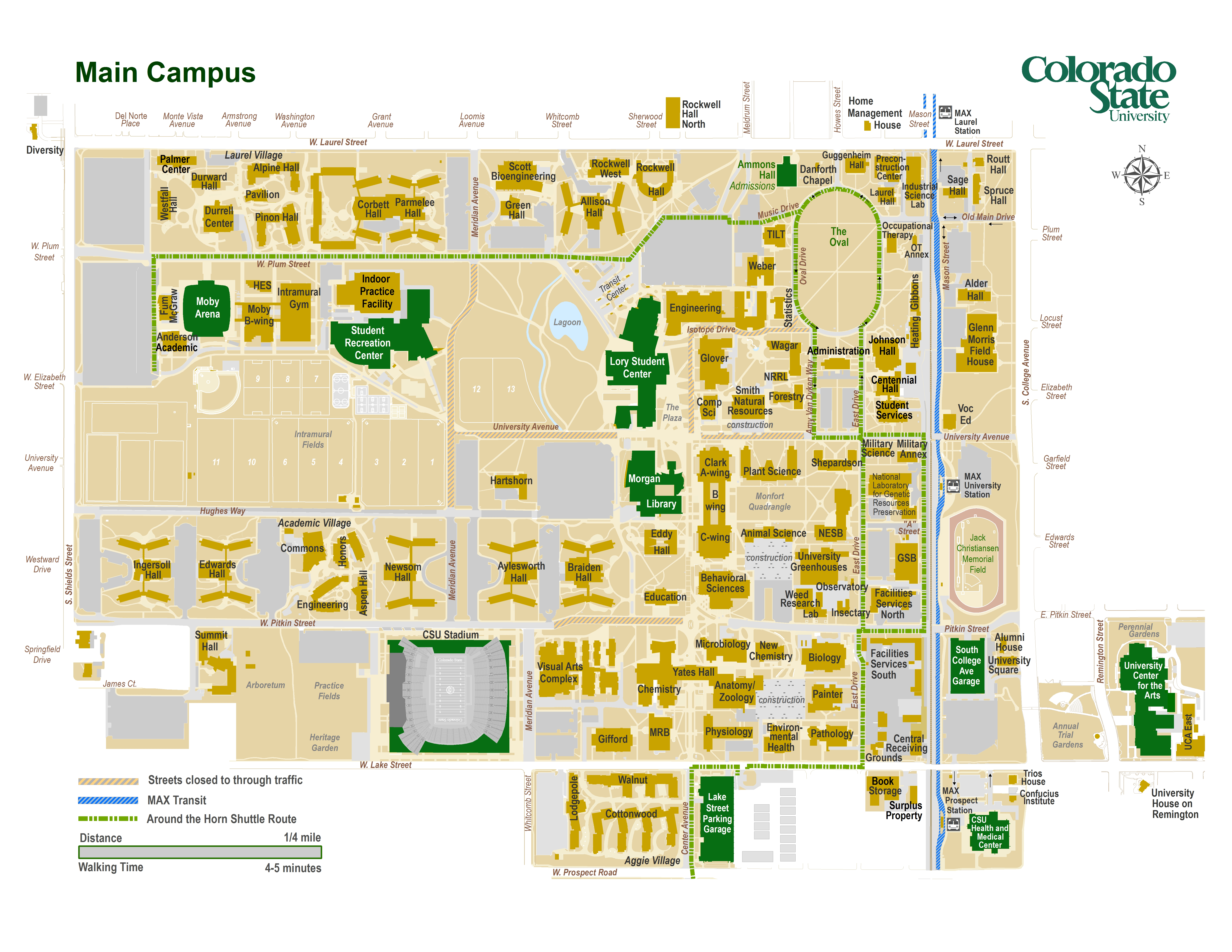 campus map colorado state university